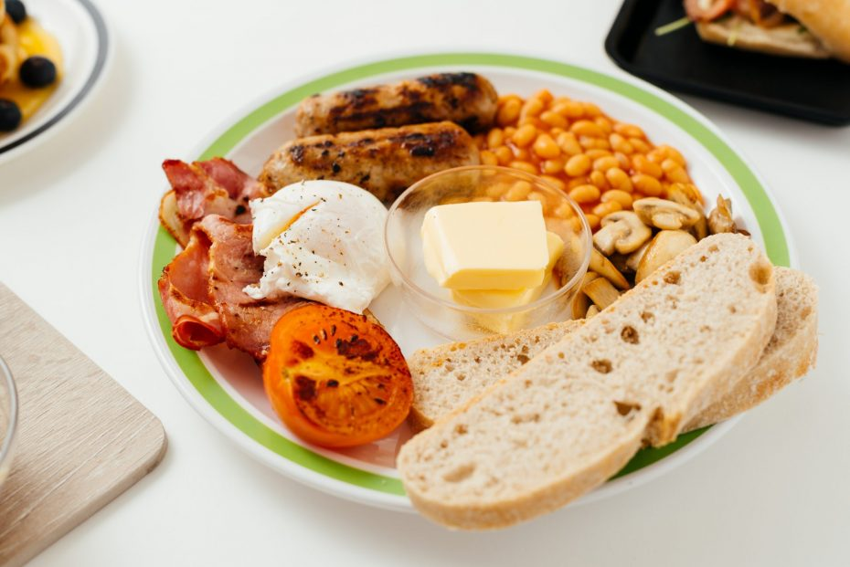 Full English Breakfast on an Apple Green Duo Plate