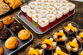 Jelly in Dessert Pots on a Display Tray
