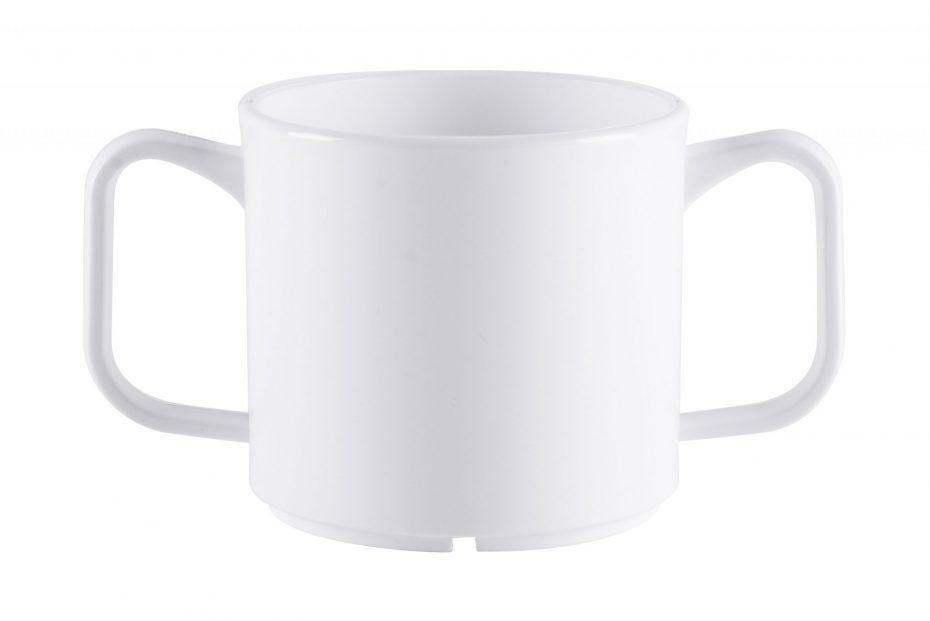 2 Handled White Mug