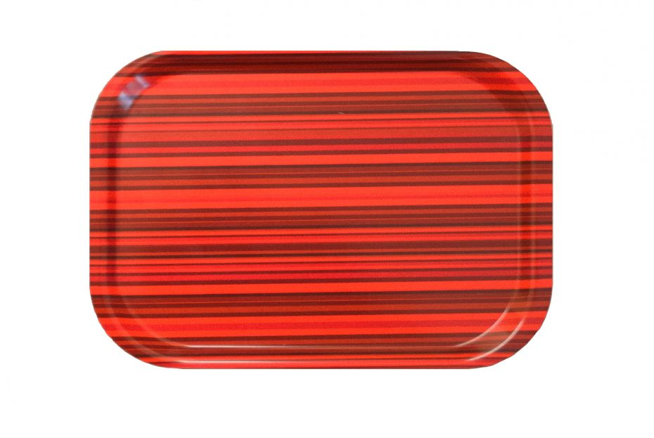 Red Chilli Stripe Mini Laminate Tray