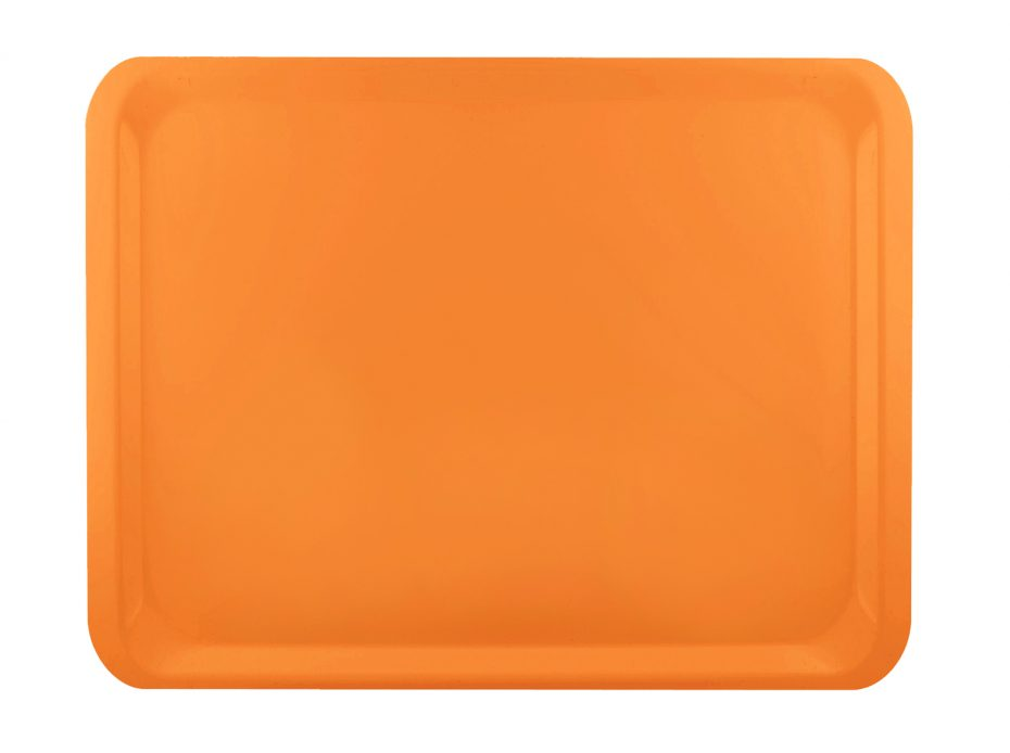Orange Laminate Casino Tray
