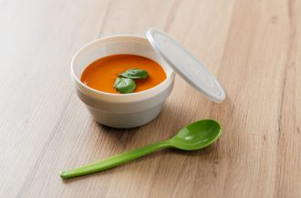 Insulated Bowl with Tomato Soup