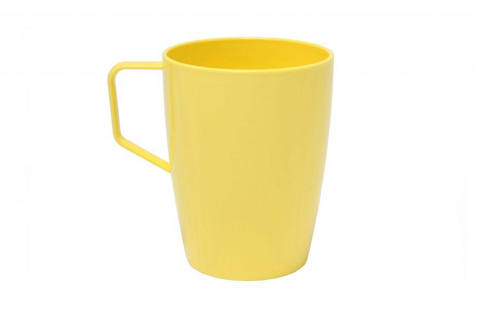 Yellow Copolyester Beaker with Handle