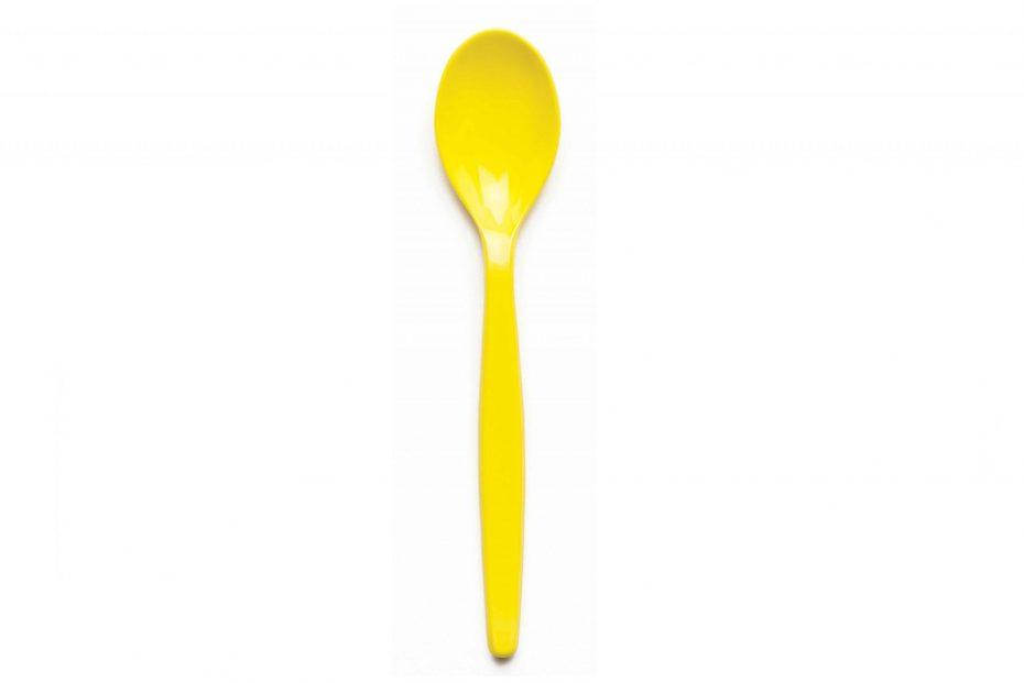Yellow Copolyester Teaspoon