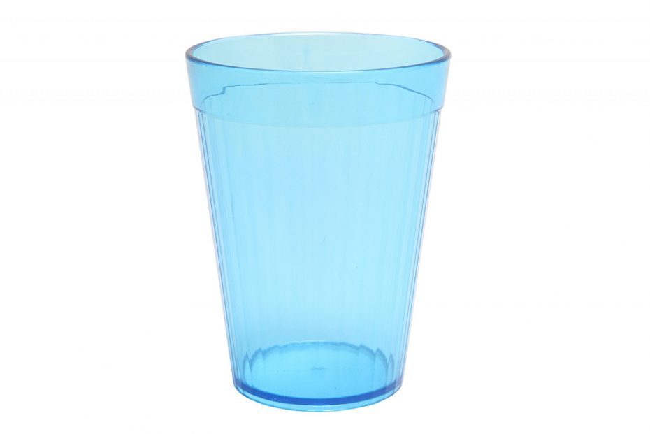 Blue 200ml Copolyester Fluted Tumbler