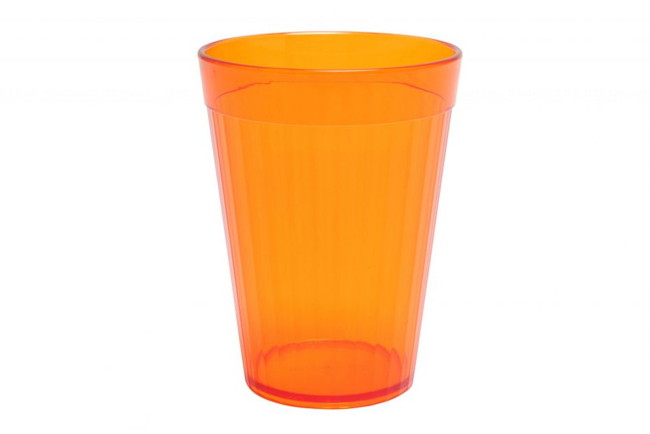 Orange 200ml Copolyester Fluted Tumbler