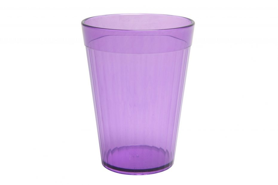 Purple 200ml Copolyester Fluted Tumbler