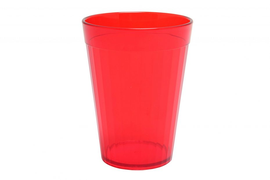 Red 200ml Copolyester Fluted Tumbler