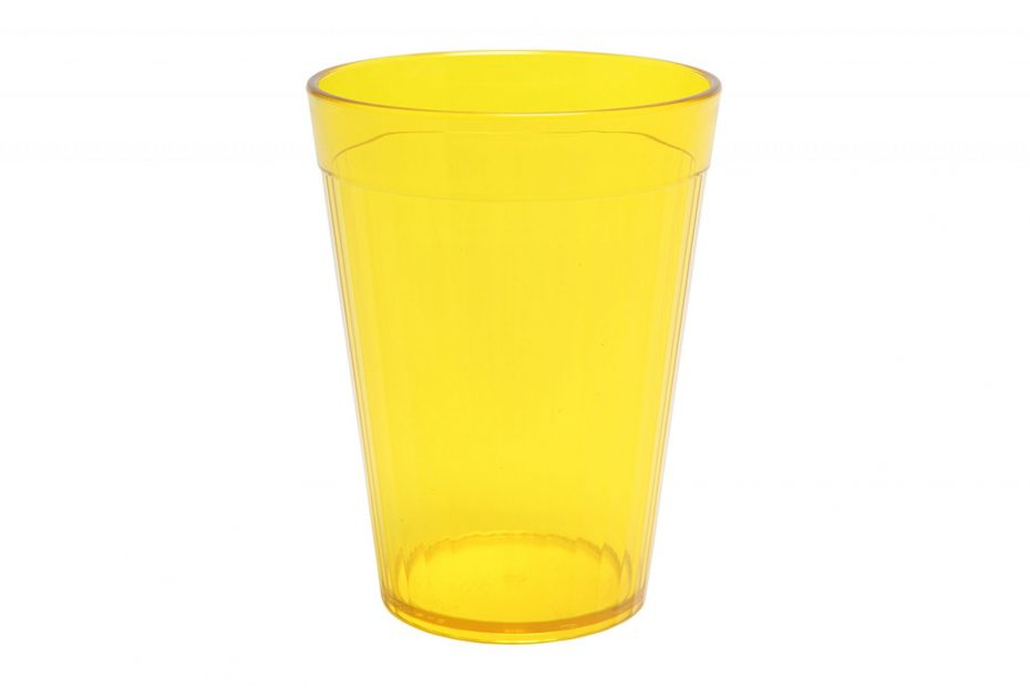 Yellow 200ml Copolyester Fluted Tumbler