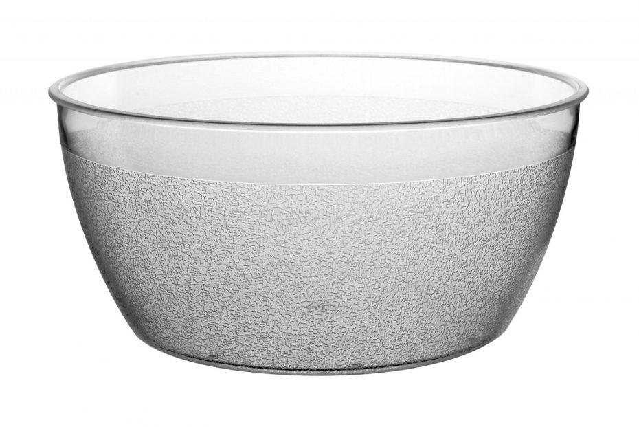 Clear Frosted Bowl