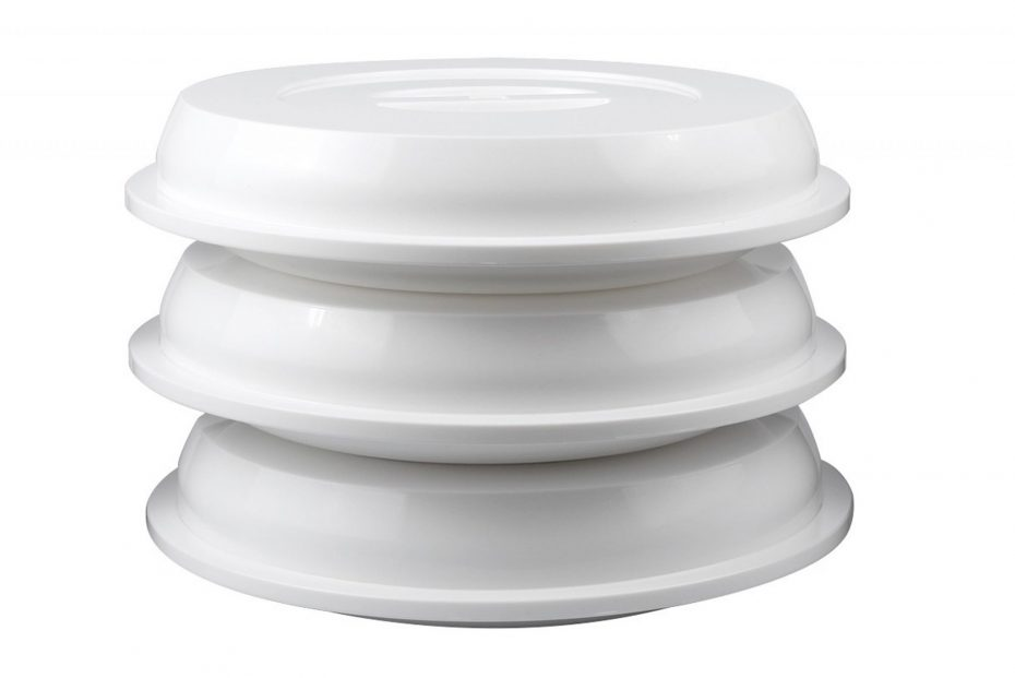 Assisted Living Plates and Covers Stacked