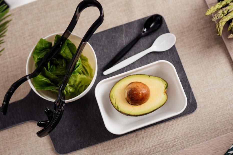 Avocado in a White Deep Dish