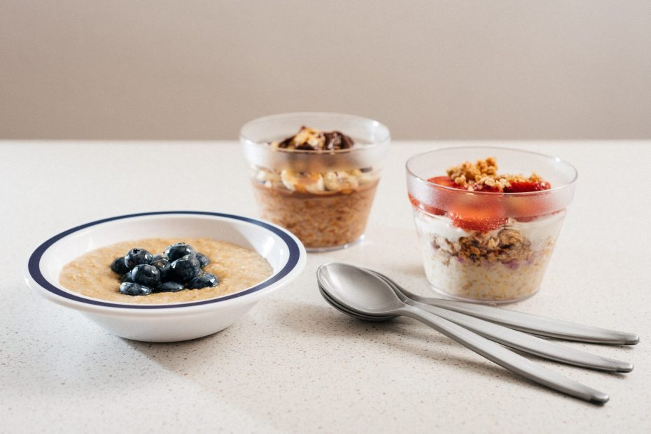 Porridge Served with Silver Spoon