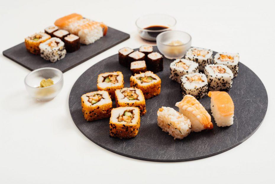 Sushi on a Slate S-Plank