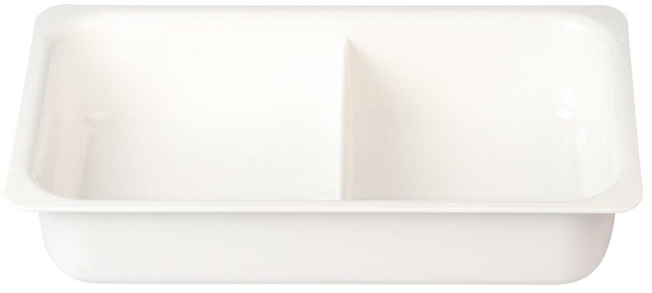 White 2 Compartment Deep Dish
