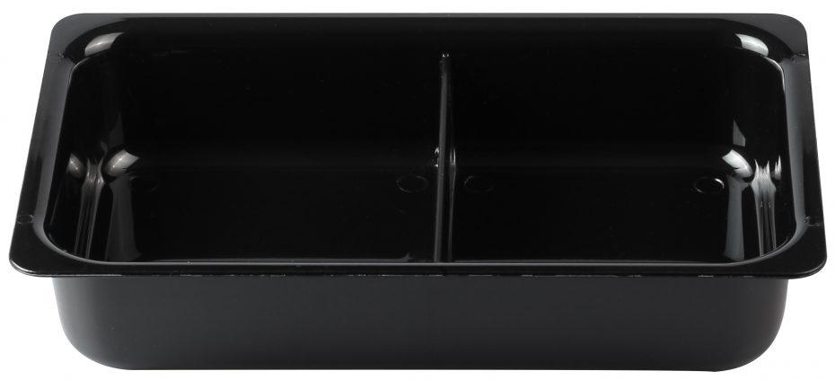 Black 2 Compartment Deep Dish
