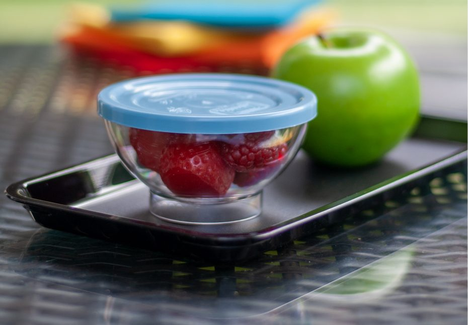 Steel Blue Lid with a Sundae Dish