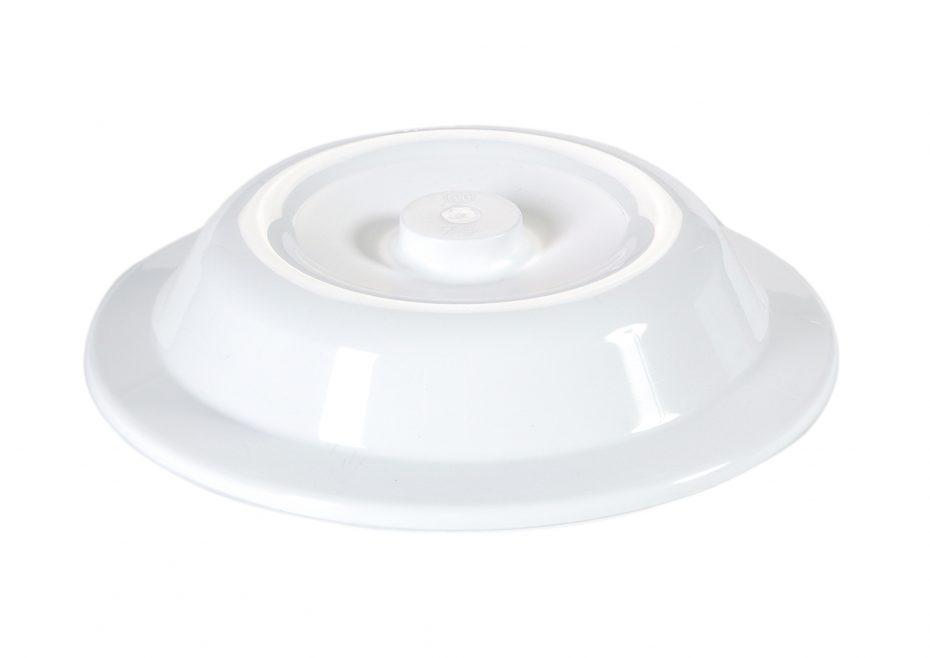 Medium White Plate Cover