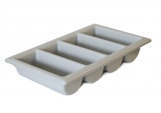 4 Compartment Grey Cutlery Tray