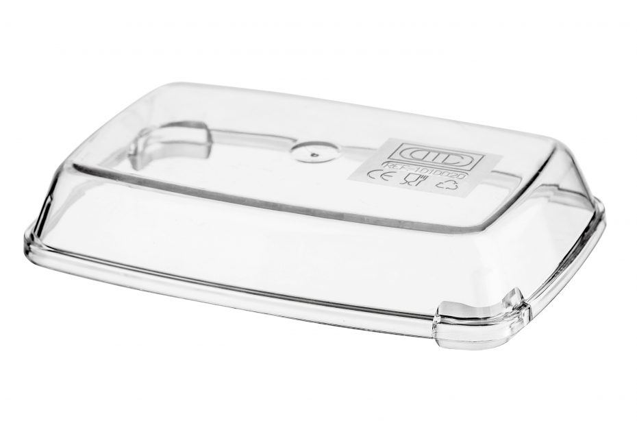 Small Clear Rectangular Lid