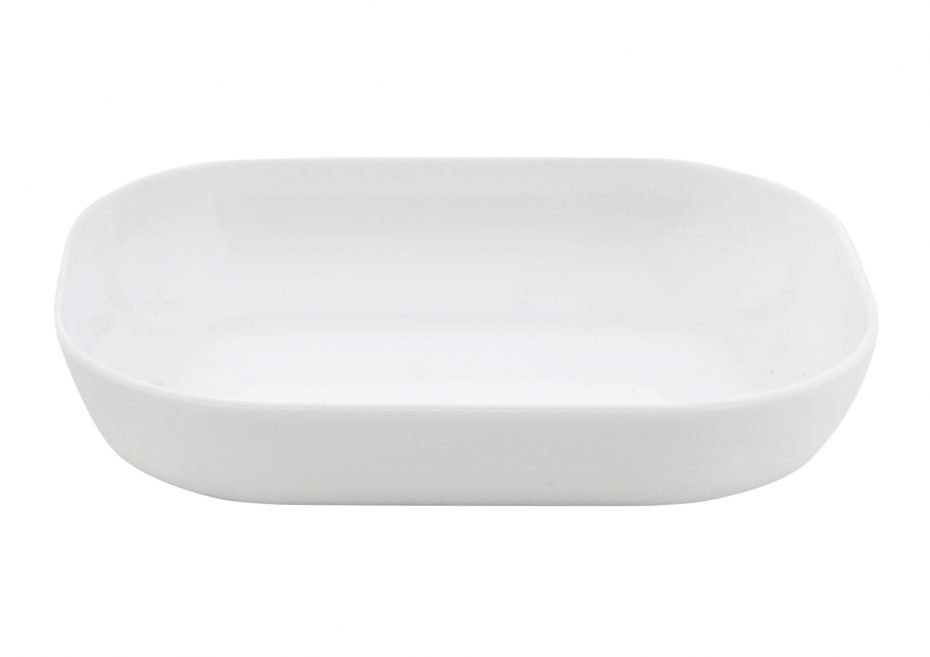 Small White Rectangular Dish