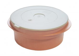 High Heat Salmon Dish with Grey Lid