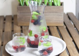 Lux jug with fruit infused water