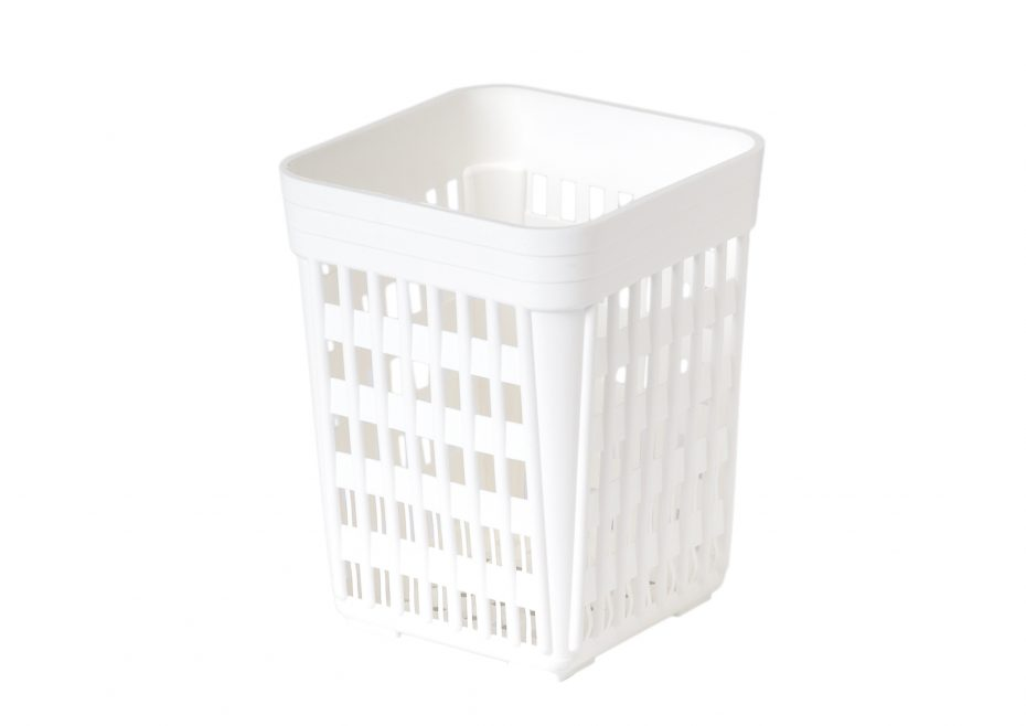 White Cutlery Holder