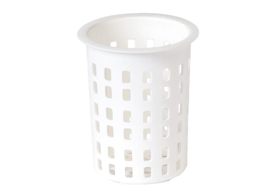 White Round Cutlery Holder