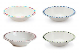 Copolyester Patterned Duo Bowls