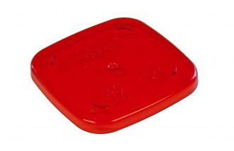Red Copolyester Dessert Pot Lid