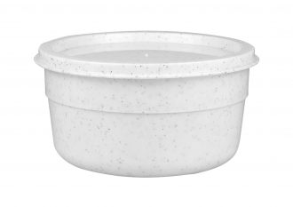 White Speckle Bowl and Lid