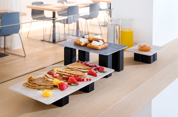Dessert Display on S-Planks and S-Cubes