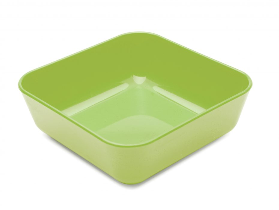 Square Sweet Dish in Apple Green