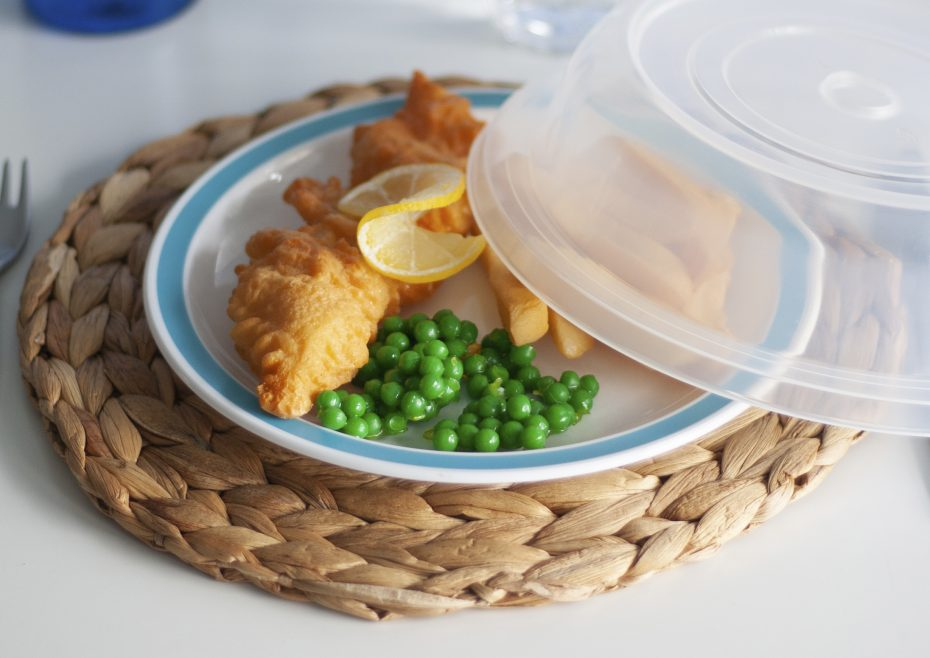 Fish and Chips on a Duo Plate