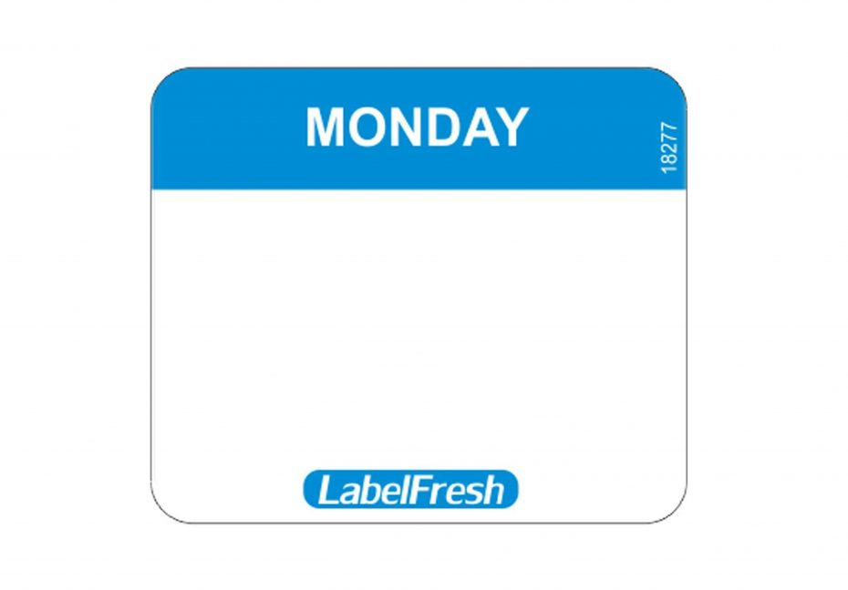 Weekly Easy Labels - Monday