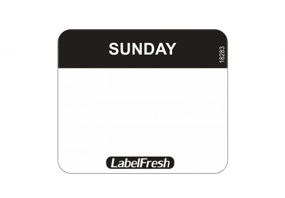 Daymark Easy Labels - Sunday