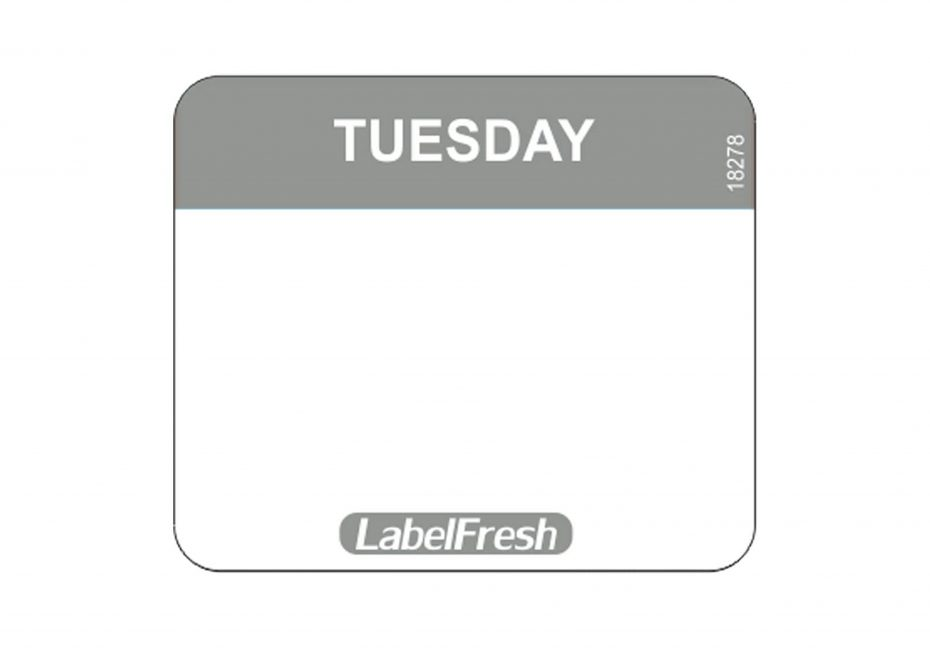 Daymark Easy Labels - Tuesday