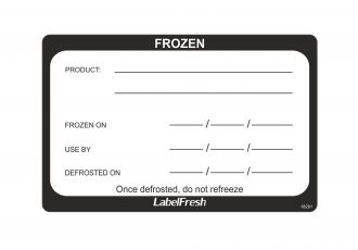 Frozen Food Labels