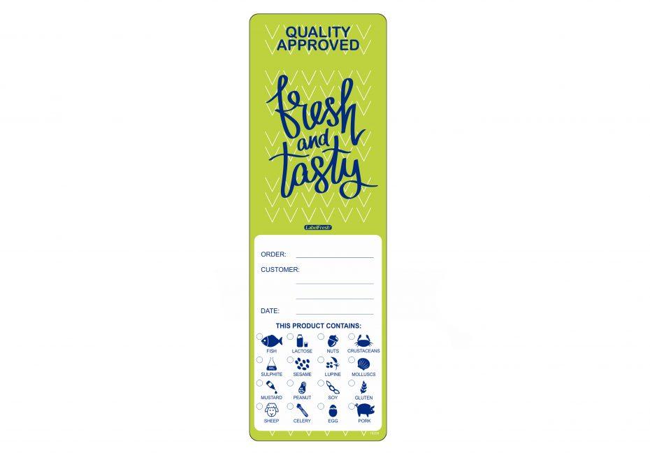 Takeaway Food Allergen Labels