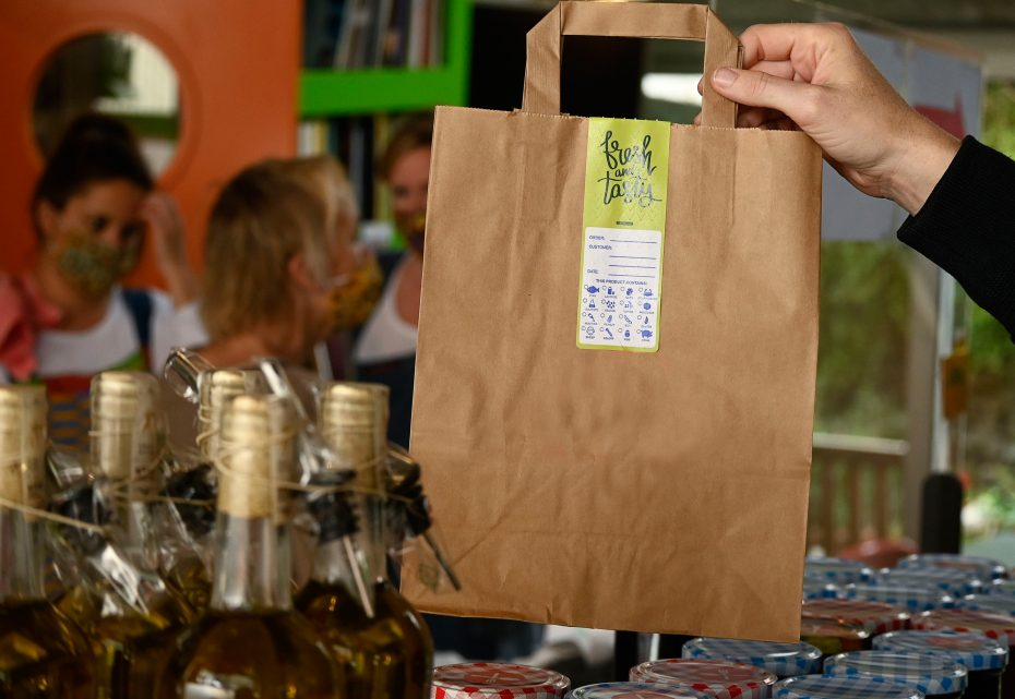 Delivery Bag with Takeaway Label