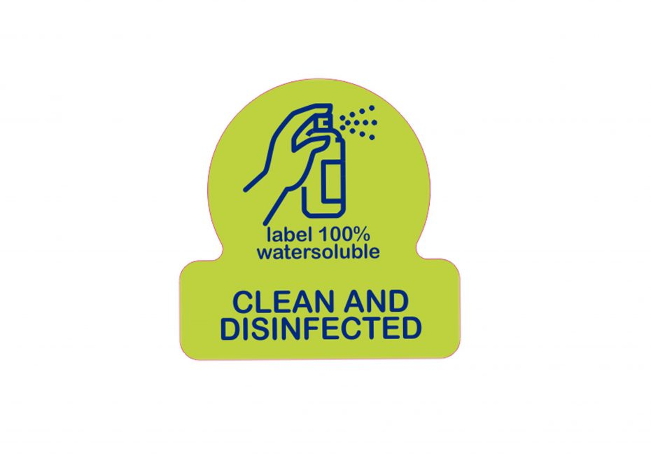 Clean & Disinfected Label
