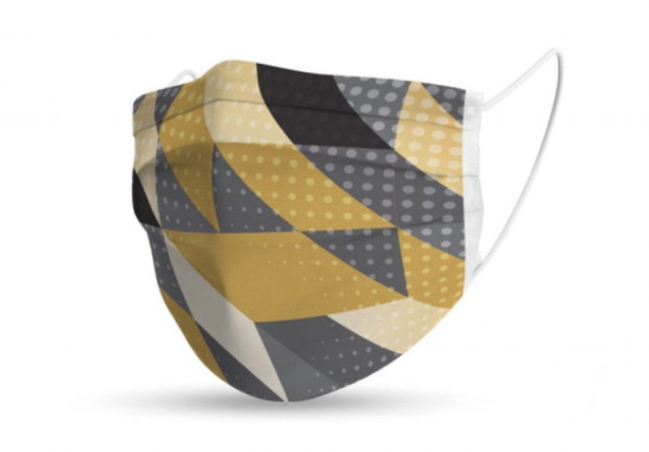 Design Comfort Face Mask - Gold/Grey