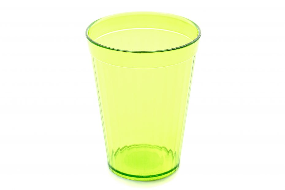 200ml Copolyester Fluted Tumbler in Lime Green