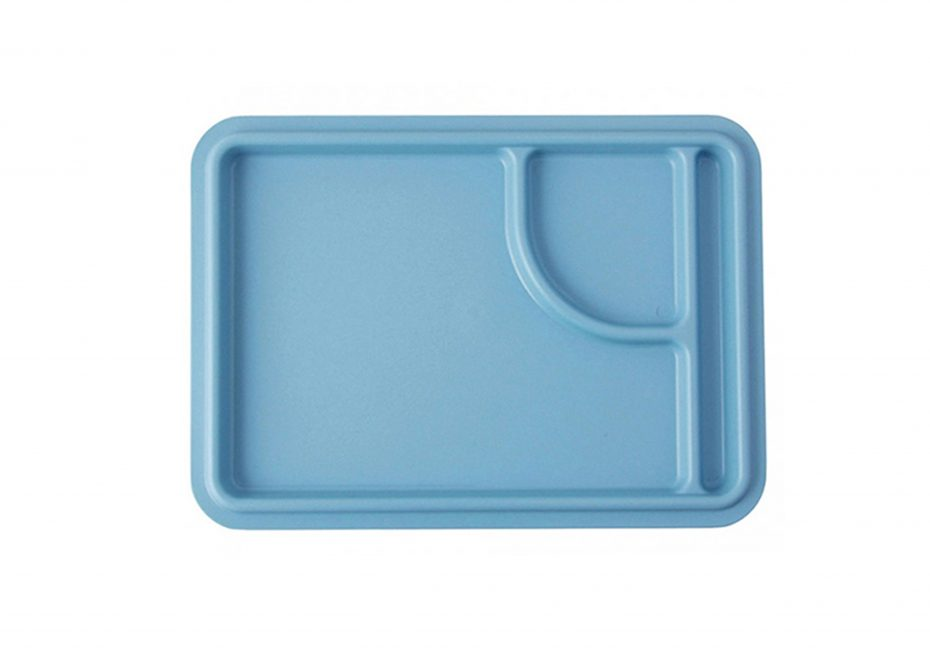 3 Compartment Meal Tray in Steel Blue