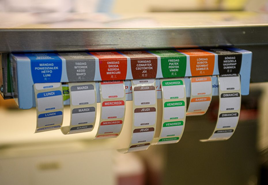 Weekly Express Label Dispenser