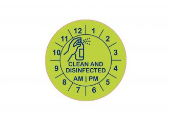 Clean & Disinfected Clock Labels