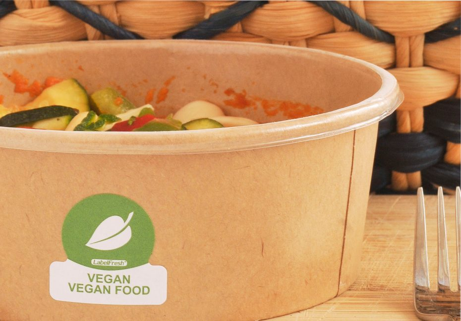 Meal Bowl with Vegan Label