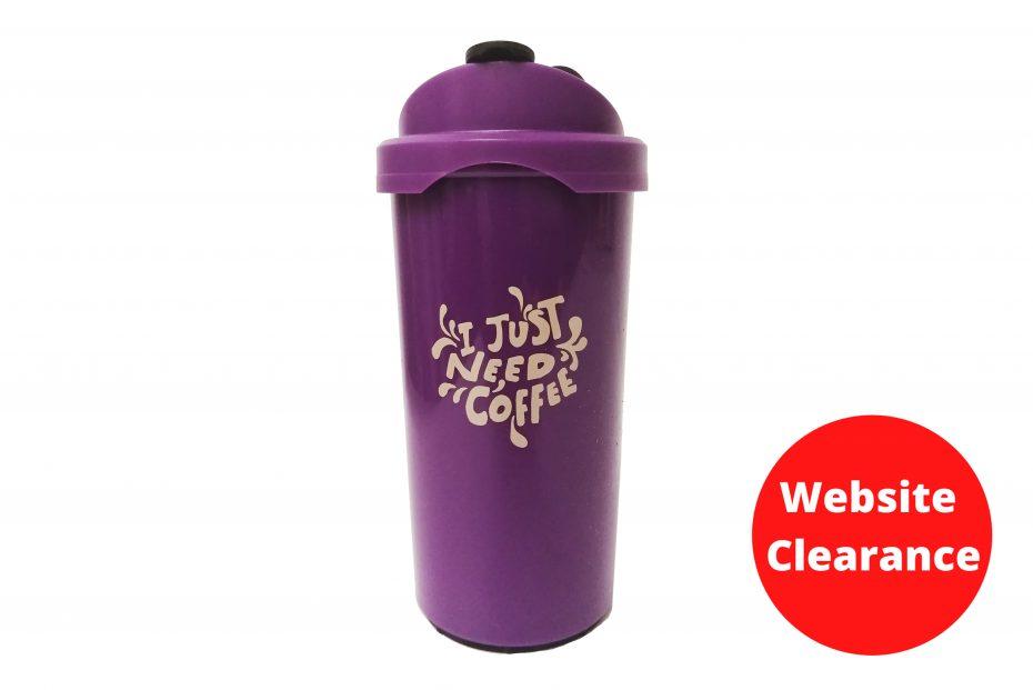Purple I Just Need Coffee Cup