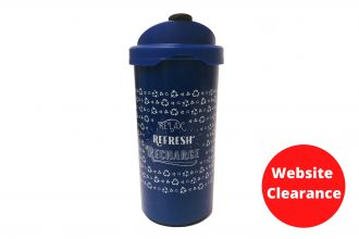 Royal Blue Relax Refresh Recharge Coffee Cup